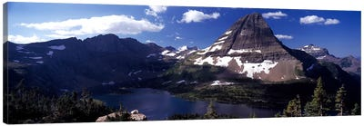 Bearhat Mountain & Hidden Lake, Glacier National Park, Montana, USA Canvas Art Print