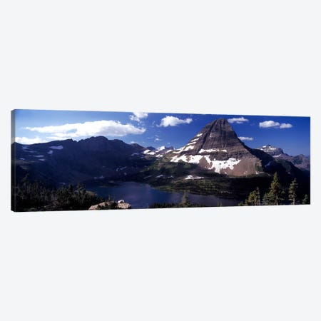 Bearhat Mountain & Hidden Lake, Glacier National Park, Montana, USA 3-Piece Canvas #PIM7864} by Panoramic Images Canvas Artwork