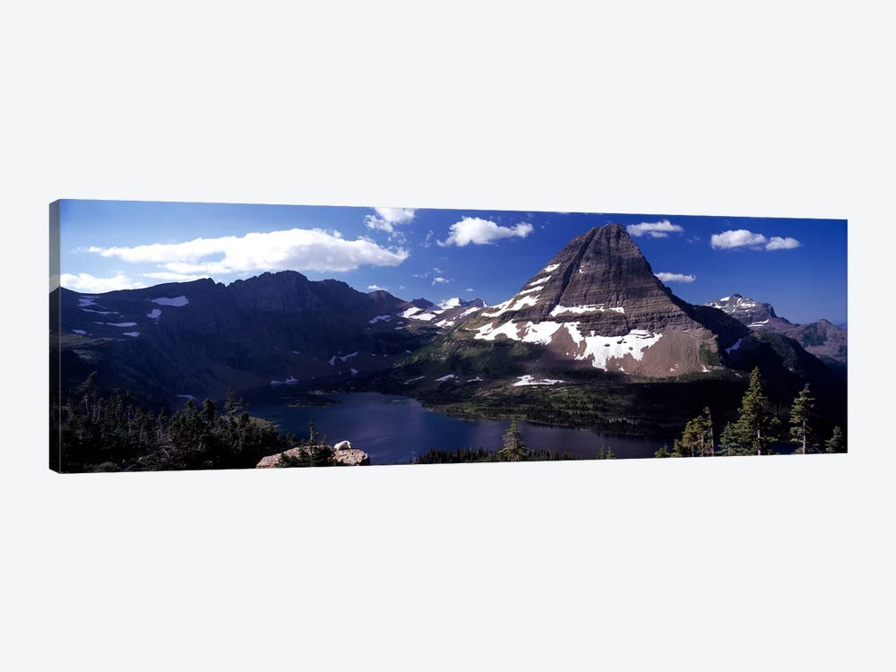 Bearhat Mountain & Hidden Lake, Glacier National Park, Montana, USA by Panoramic Images 1-piece Canvas Art Print