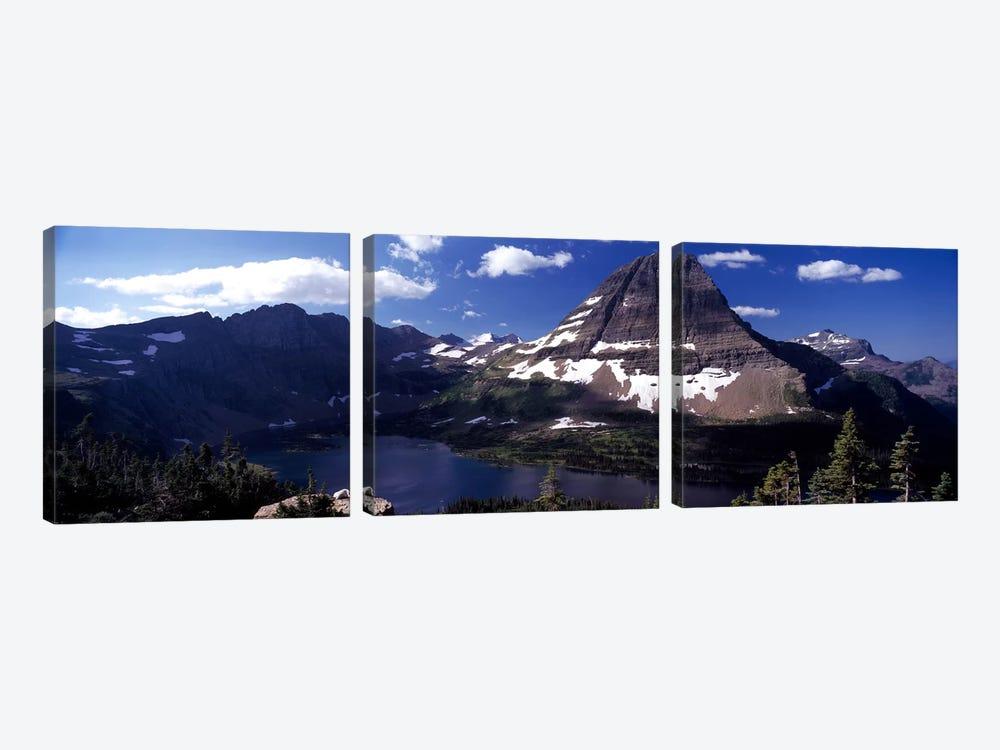 Bearhat Mountain & Hidden Lake, Glacier National Park, Montana, USA by Panoramic Images 3-piece Art Print