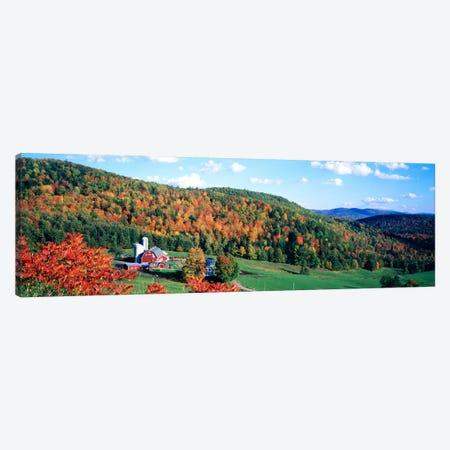 Autumnal Countryside Landscape, Hillside Acres Farm, Barnet, Vermont, USA Canvas Print #PIM786} by Panoramic Images Canvas Wall Art