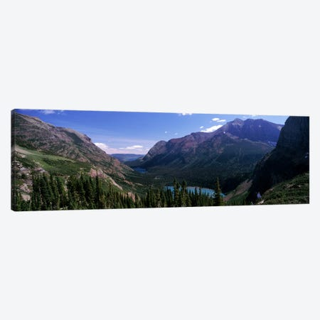 Mountain Valley Landscape, Glacier National Park, Montana, USA Canvas Print #PIM7875} by Panoramic Images Art Print