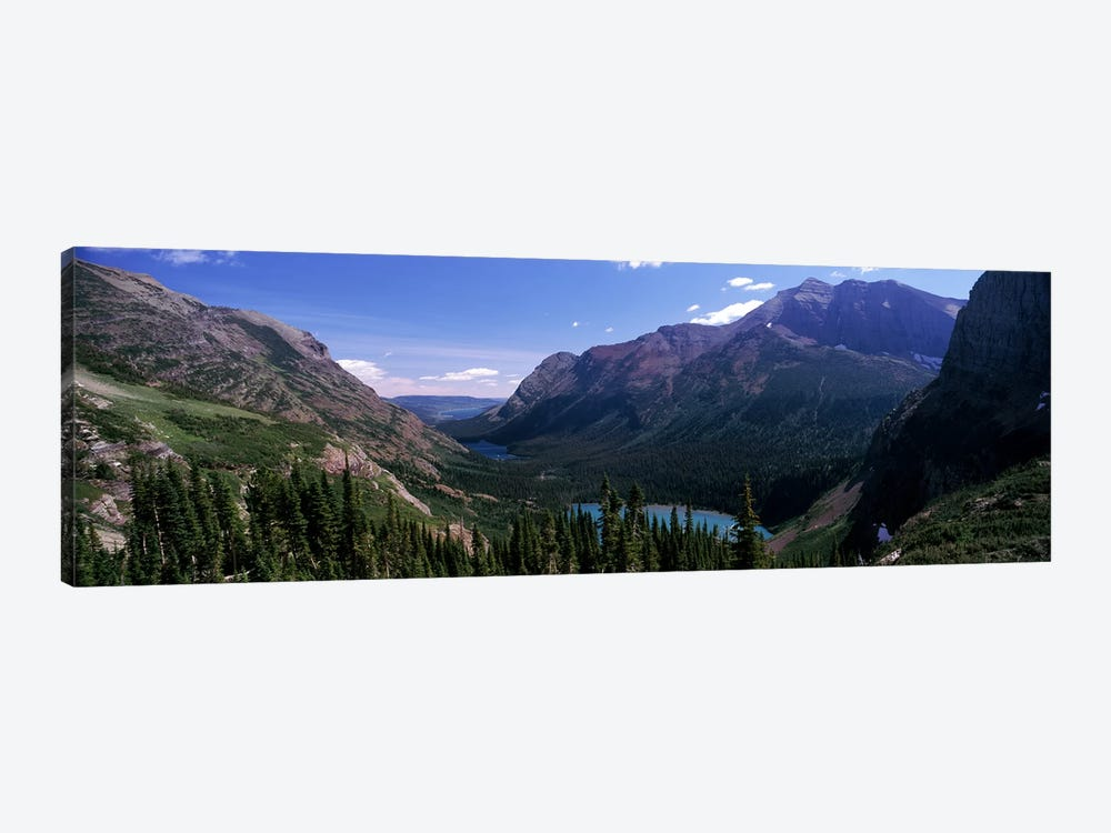 Mountain Valley Landscape, Glacier National Park, Montana, USA by Panoramic Images 1-piece Art Print