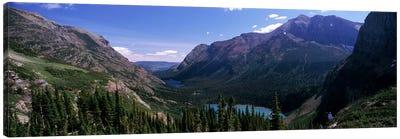 Mountain Valley Landscape, Glacier National Park, Montana, USA Canvas Art Print
