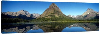 Mount Wilbur And Its Reflection In Swiftcurrent Lake, Many Glacier Region, Glacier National Park, Montana, USA Canvas Art Print