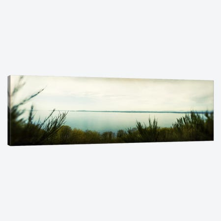 Park along an inlet, Puget Sound, Discovery Park, Magnolia, Seattle, Washington State, USA Canvas Print #PIM7884} by Panoramic Images Canvas Art