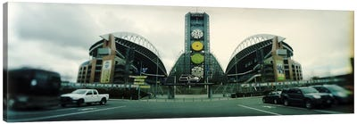 Facade of a stadium, Qwest Field, Seattle, Washington State, USA Canvas Art Print
