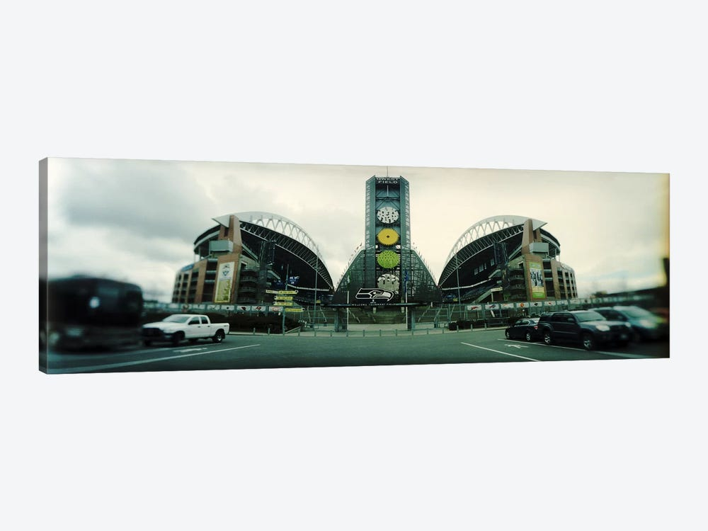 Facade of a stadium, Qwest Field, Seattle, Washington State, USA by Panoramic Images 1-piece Canvas Wall Art