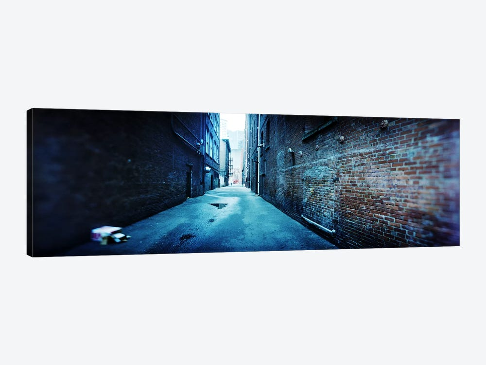 Buildings along an alley, Pioneer Square, Seattle, Washington State, USA by Panoramic Images 1-piece Canvas Art Print