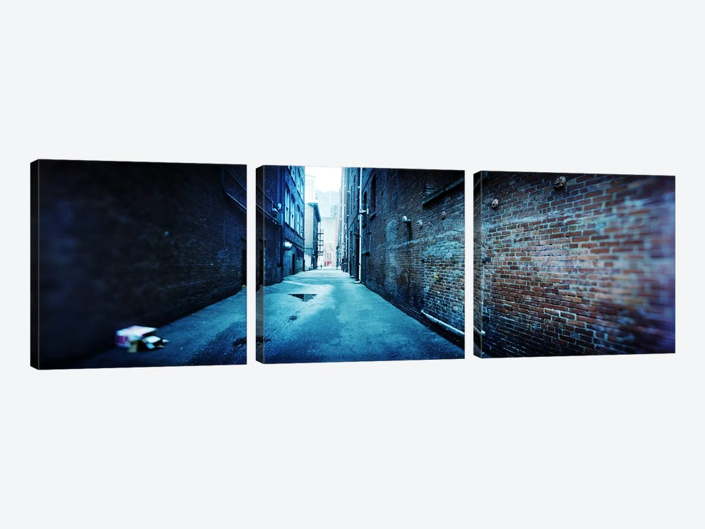 Buildings along an alley, Pioneer Square, Seattle, Washington State, USA by Panoramic Images 3-piece Art Print
