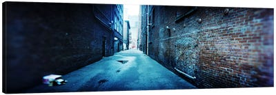 Buildings along an alley, Pioneer Square, Seattle, Washington State, USA Canvas Art Print