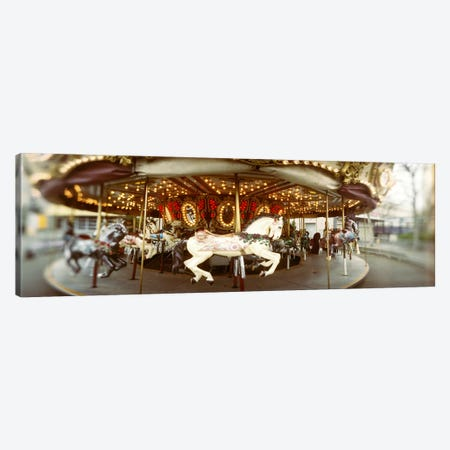 Carousel horses in an amusement park, Seattle Center, Queen Anne Hill, Seattle, Washington State, USA Canvas Print #PIM7887} by Panoramic Images Canvas Artwork