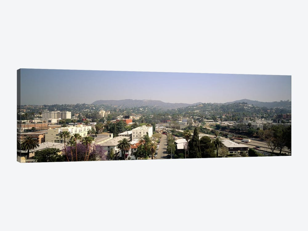 Buildings in a city, Hollywood, City of Los Angeles, California, USA by Panoramic Images 1-piece Art Print