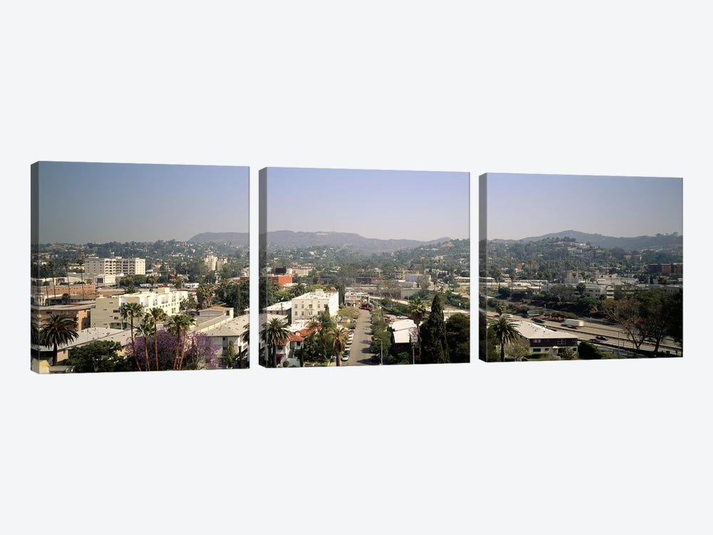 Buildings in a city, Hollywood, City of Los Angeles, California, USA by Panoramic Images 3-piece Art Print