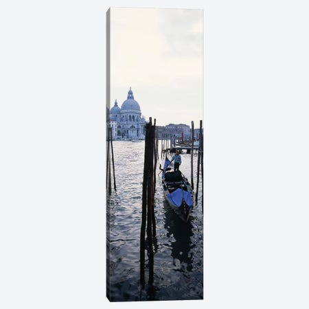 Gondolier in a gondola with a cathedral in the background, Santa Maria Della Salute, Venice, Veneto, Italy Canvas Print #PIM7889} by Panoramic Images Canvas Art Print