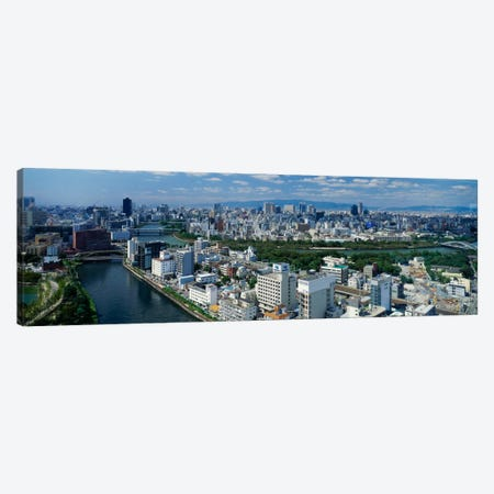 Neya River Osaka Japan Canvas Print #PIM788} by Panoramic Images Canvas Art Print
