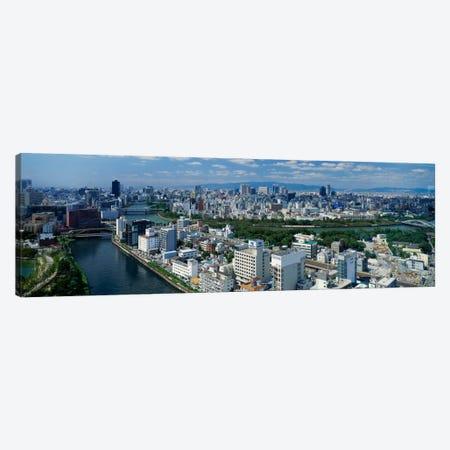 Neya River Osaka Japan Canvas Print #PIM788} by Panoramic Images Canvas Art Print