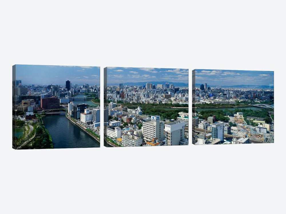 Neya River Osaka Japan by Panoramic Images 3-piece Canvas Print