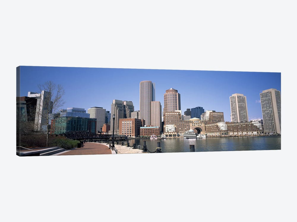 Buildings in a city, Boston, Suffolk County, Massachusetts, USA by Panoramic Images 1-piece Canvas Wall Art