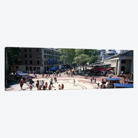 Tourists in a market, Faneuil Hall Marketplace, Quincy Market, Boston, Suffolk County, Massachusetts, USA Canvas Print #PIM7891} by Panoramic Images Canvas Wall Art