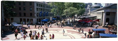 Tourists in a market, Faneuil Hall Marketplace, Quincy Market, Boston, Suffolk County, Massachusetts, USA Canvas Print #PIM7891