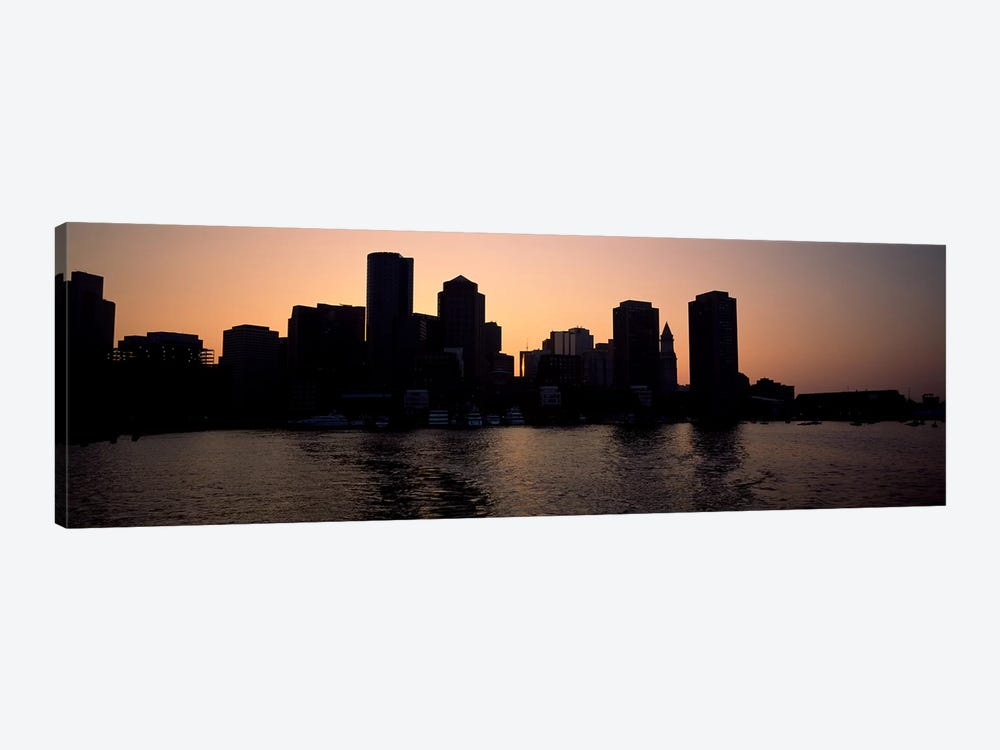 Buildings at the waterfront, Boston, Suffolk County, Massachusetts, USA #2 by Panoramic Images 1-piece Canvas Wall Art