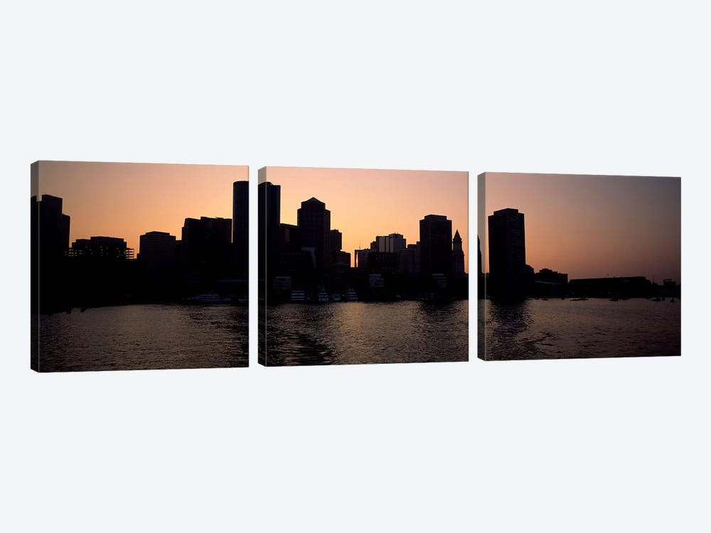 Buildings at the waterfront, Boston, Suffolk County, Massachusetts, USA #2 by Panoramic Images 3-piece Canvas Wall Art