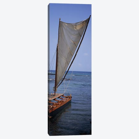 Canoe in the sea, Honolulu, Pu'uhonua o Honaunau National Historical Park, Honaunau, Hawaii, USA Canvas Print #PIM7895} by Panoramic Images Art Print