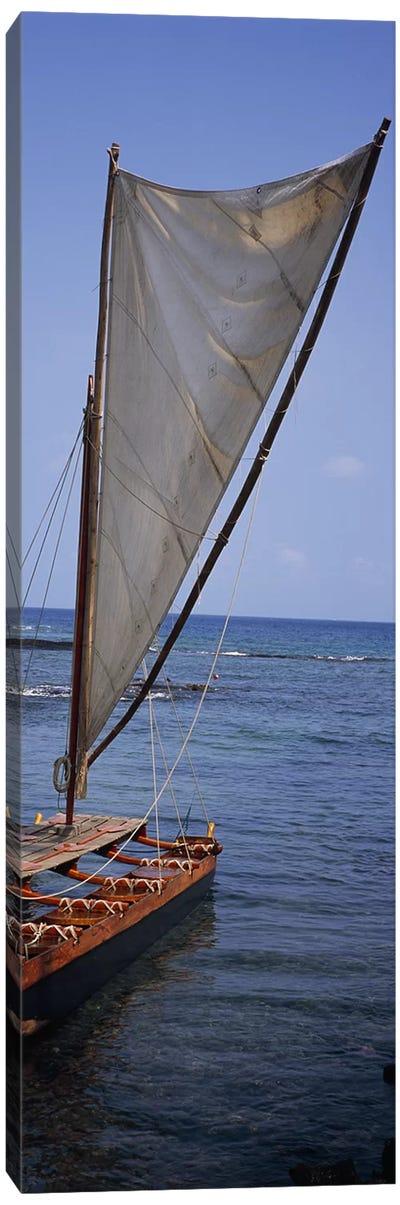 Canoe in the sea, Honolulu, Pu'uhonua o Honaunau National Historical Park, Honaunau, Hawaii, USA Canvas Print #PIM7895
