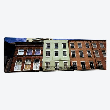 Low angle view of buildings, Riverwalk Area, New Orleans, Louisiana, USA Canvas Print #PIM7896} by Panoramic Images Canvas Print