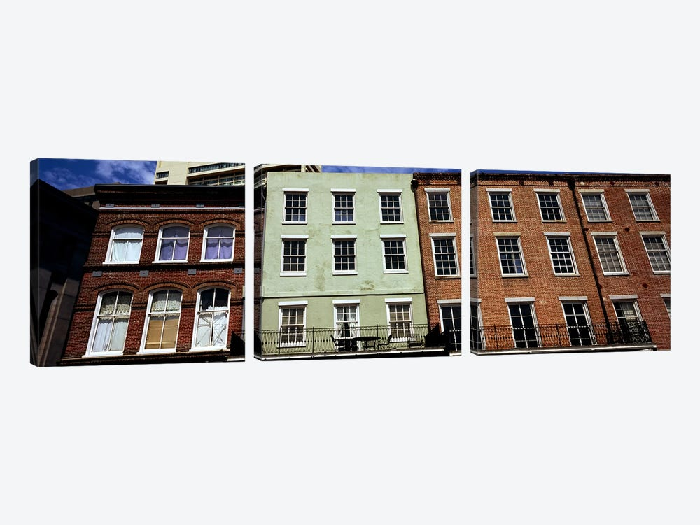 Low angle view of buildings, Riverwalk Area, New Orleans, Louisiana, USA by Panoramic Images 3-piece Canvas Wall Art