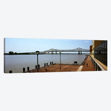 Bridge across a river, Crescent City Connection Bridge, Mississippi River, New Orleans, Louisiana, USA Canvas Print #PIM7898} by Panoramic Images Canvas Artwork