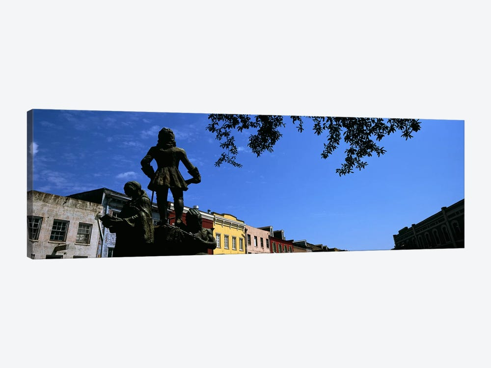 Statues in front of buildings, French Market, French Quarter, New Orleans, Louisiana, USA by Panoramic Images 1-piece Canvas Print