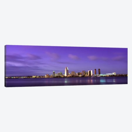USACalifornia, San Diego, dusk Canvas Print #PIM789} by Panoramic Images Art Print