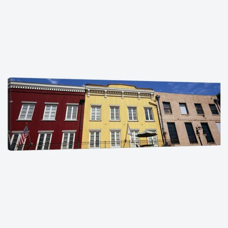 Low angle view of buildings, French Market, French Quarter, New Orleans, Louisiana, USA Canvas Print #PIM7900} by Panoramic Images Canvas Art