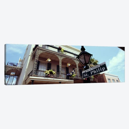 Street name signboard on a lamppost, St. Philip Street, French Market, French Quarter, New Orleans, Louisiana, USA Canvas Print #PIM7902} by Panoramic Images Canvas Art