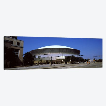 Low angle view of a stadium, Louisiana Superdome, New Orleans, Louisiana, USA Canvas Print #PIM7903} by Panoramic Images Canvas Artwork