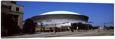 Low angle view of a stadium, Louisiana Superdome, New Orleans, Louisiana, USA Canvas Art Print