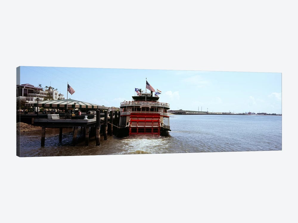 Paddleboat Natchez in a river, Mississippi River, New Orleans, Louisiana, USA by Panoramic Images 1-piece Canvas Artwork