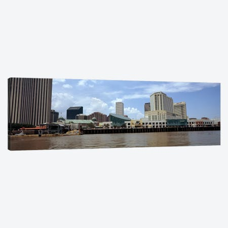 Buildings viewed from the deck of a ferry, New Orleans, Louisiana, USA Canvas Print #PIM7905} by Panoramic Images Art Print