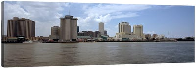 Buildings viewed from the deck of Algiers ferry, New Orleans, Louisiana, USA #2 Canvas Art Print