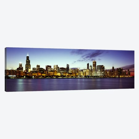 Buildings at the waterfront, Lake Michigan, Chicago, Cook County, Illinois, USA Canvas Print #PIM7908} by Panoramic Images Canvas Wall Art