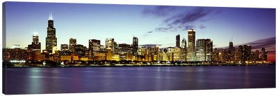 Buildings at the waterfront, Lake Michigan, Chicago, Cook County, Illinois, USA Canvas Print #PIM7908