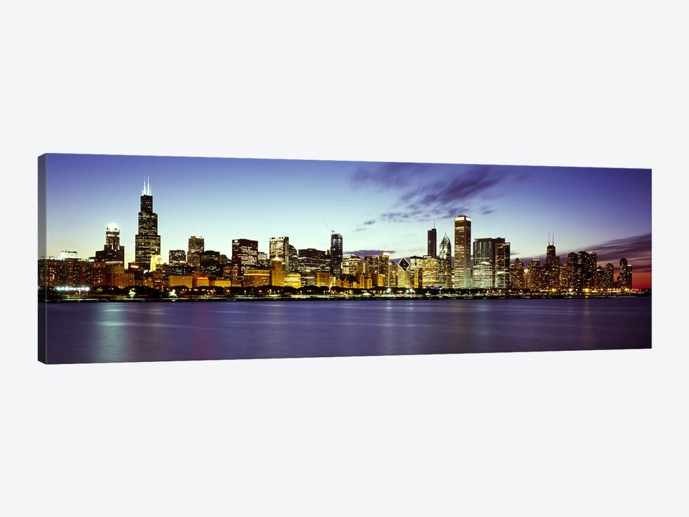 Buildings at the waterfront, Lake Michigan, Chicago, Cook County, Illinois, USA by Panoramic Images 1-piece Canvas Art