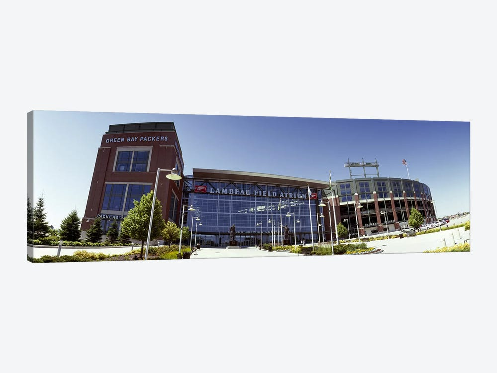 Facade of a stadium, Lambeau Field, Green Bay, Wisconsin, USA 1-piece Canvas Art Print