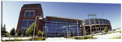 Facade of a stadium, Lambeau Field, Green Bay, Wisconsin, USA Canvas Art Print