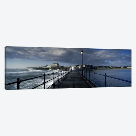 Crashing Waves On A Cloudy Day, Amble, Northumberland, England Canvas Print #PIM7911} by Panoramic Images Canvas Print