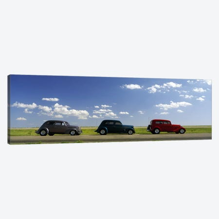 Three Hot Rods, U.S. Route 66, USA Canvas Print #PIM7913} by Panoramic Images Canvas Print