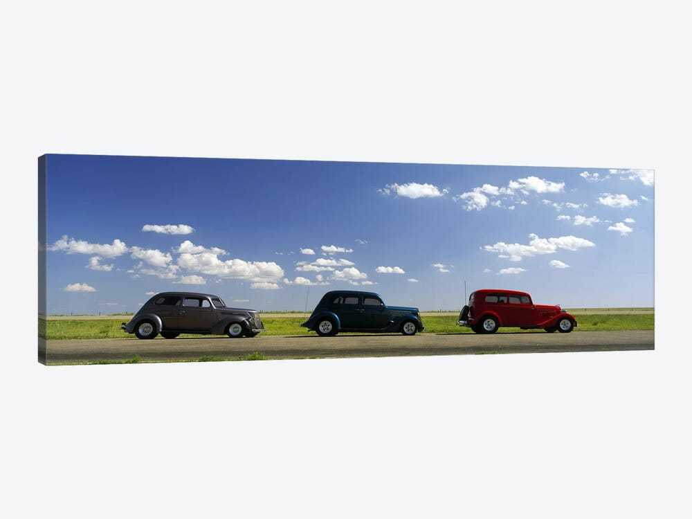 Three Hot Rods, U.S. Route 66, USA by Panoramic Images 1-piece Canvas Wall Art