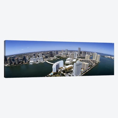 Aerial view of a city, Miami, Miami-Dade County, Florida, USA 2008 Canvas Print #PIM7914} by Panoramic Images Canvas Art